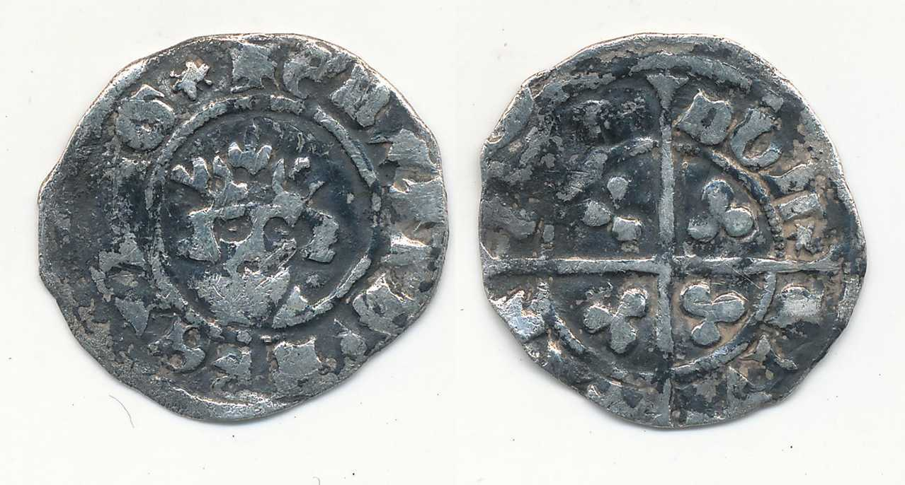Edward III Halfpenny,  London.   NP Collectables