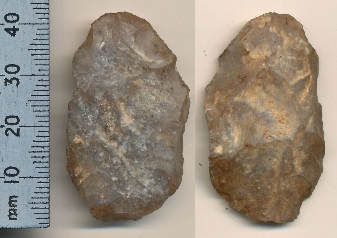Neolithic Flint End/Side Scraper. NP Collectables