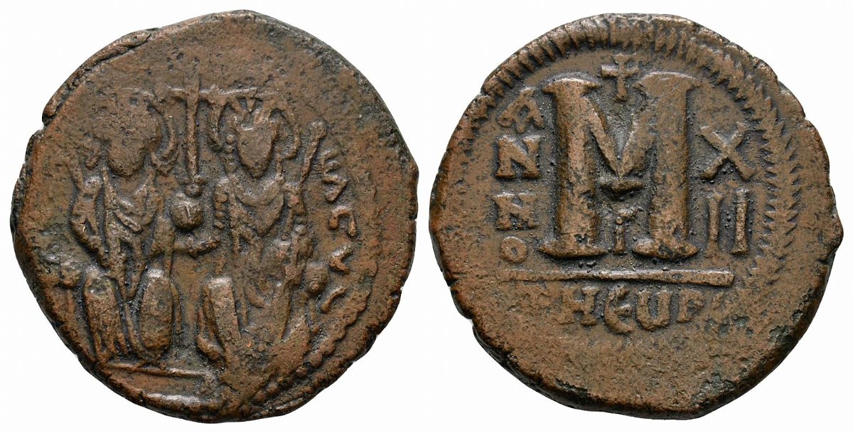 Justin II, M Follis. NP Collectables