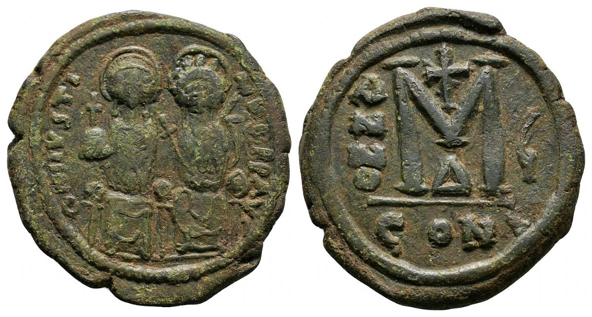 Justin II Large M Follis. NP Collectables