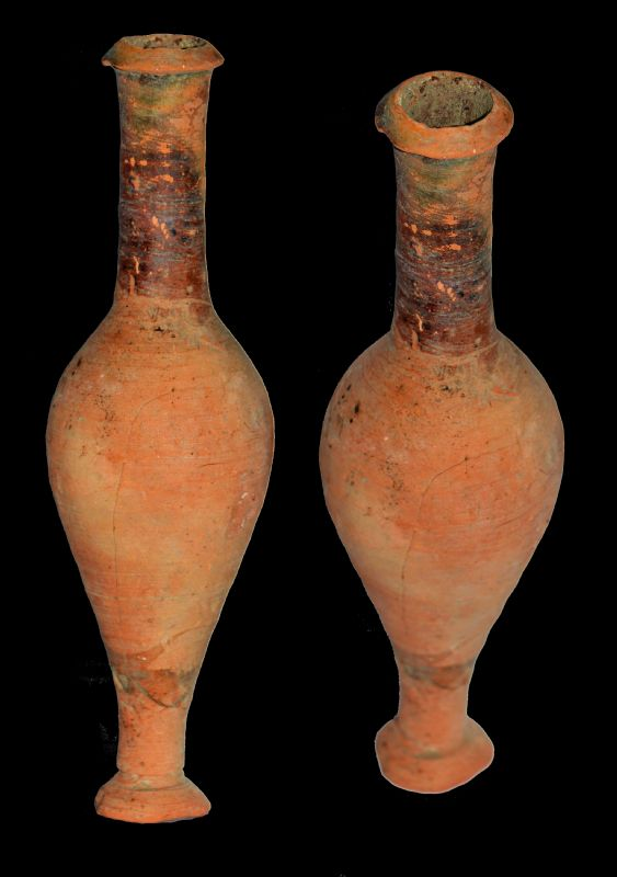 Hellenistic Pottery Spindle Flask. NP Collectables